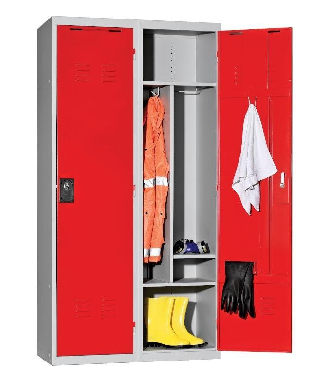 Armoire vestiaire pompier 2 cases