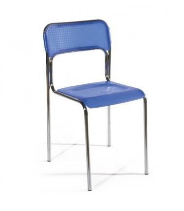 Chaise d'accueil FIS bleue.