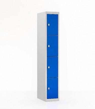 vestiaire 4 casiers bleu largeur 30.