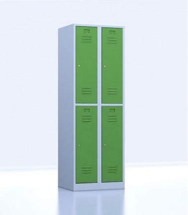 Vestiaires métalliques biplaces de 4 casiers 30 vert
