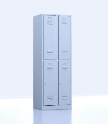Vestiaires métalliques biplaces de 4 casiers 30 gris