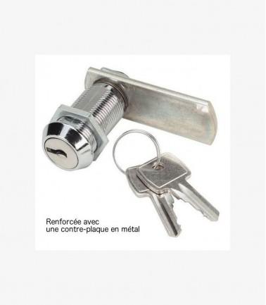 Serrure pour vestiaire avec 2 clés