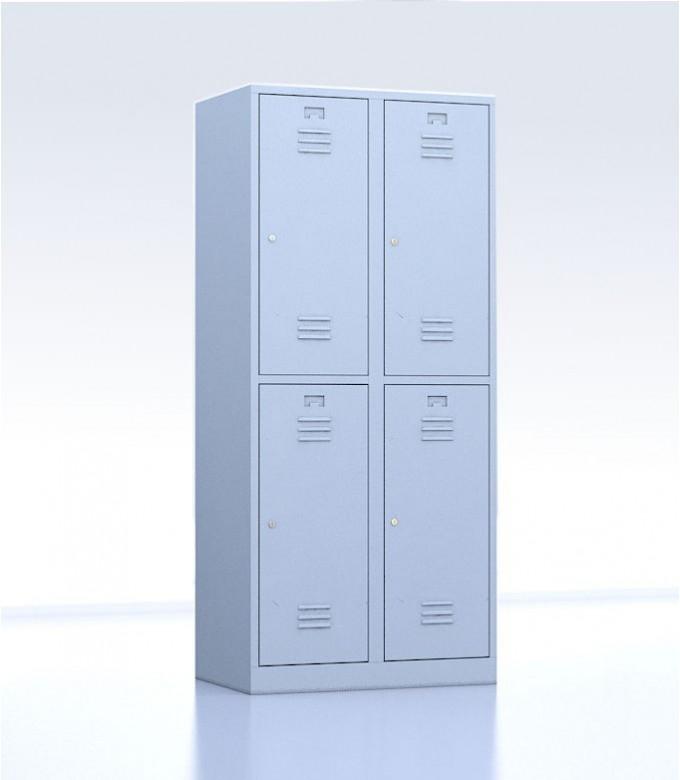 Vestiaires métalliques biplaces de 4 casiers gris 40 cm