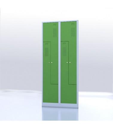 Vestiaire gain de place portes Z ou L 4 compartiments vert
